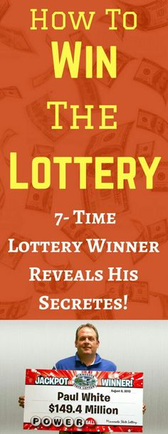 How to Win the Lottery - 7 Time Lottery Winner Reveals His Secrets. His method is working for more than 14000 users per year to make money. Click the pin to know more >>> Earn Money Online Fast, Earn Money From Home, Online Earning, Online Jobs, Way To Make Money, Lotto Winners, Jackpot Winners, Lottery Winner, Winning The Lottery