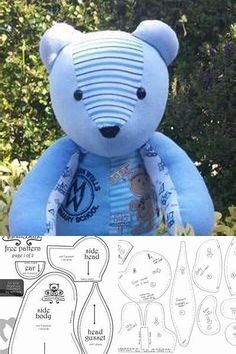 Memory Bear Pattern Free Emily Pinterest Teddy Bear