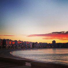 Atardecer en la Rambla de Montevideo.