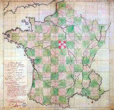 La proposition géométrique de découpage des départements du comité Sieyès-Thouret - 1789