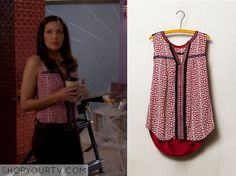 Switched at Birth: Season 4 Episode 5 Regina's Red Print Top