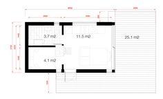 Planritning attefallshus med loft