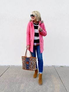 Sugarplum Style, Vol. 85 + November's Top Posts & Finds Sweaters And Leggings, Sweater Coats, Jeans And Sneakers, Jeans And Boots, Daily Fashion, Everyday Fashion, Plaid And Leopard, Autumn Winter Fashion, Winter Style