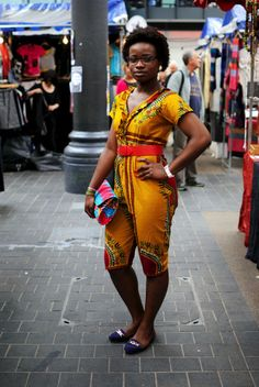 Fashion at the African market in Old Spitalfields, London  #trends #african #fashion