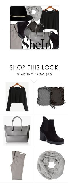 """MONOCHROME"" by tamarasimic ❤ liked on Polyvore featuring NARS Cosmetics, Tommy Hilfiger, AG Adriano Goldschmied, John Lewis, Janessa Leone, black, casualoutfit, grey and shein"