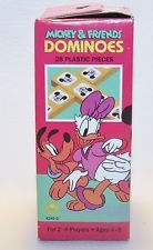 Vintage toy DISNEY Dominoes  Pluto Daffy Mickey Mouse Minnie 28 pcs