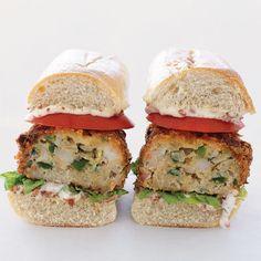 Crispy Shrimp Po' Boy Burgers