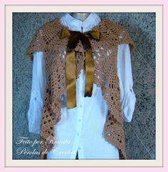 * Pérolas do Crochet: Colete de Croche modelo circular também para gestantes