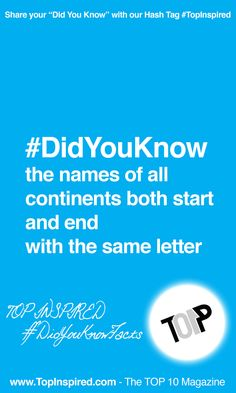 #TopInspired - Did You Know Facts #DidYouKnow