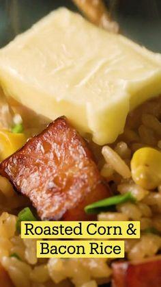 Rice Cooker Recipes, Corn Recipes, Side Dish Recipes, Vegetable Recipes, Asian Recipes, Dinner Recipes, Cooking Recipes, Healthy Recipes, Meat Recipes