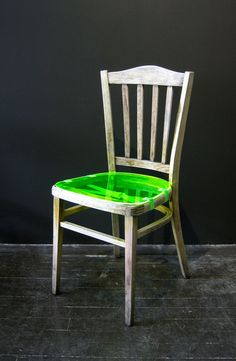 #55 #studio #reanim #project #chair #lime #lurid #green #fluro #fluorescent #design #furniture #perspex