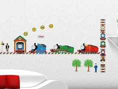 Thomas & Friends Wall Decals  (Thomas the Train / Tank Vinyl Wall Sticker, Engine)
