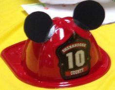Fire Helmet + Mickey Mouse Ears: Firefighter Mickey Party