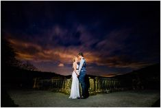 A Night Time Couples Portrait For This Beautiful Boho Wedding In The Peak District At