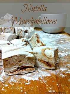 Flavored Marshmallows, Recipes With Marshmallows, Chocolate Marshmallows, Köstliche Desserts, Delicious Desserts, Dessert Recipes, Homemade Chocolate, Hot Chocolate, Chocolate Tarts