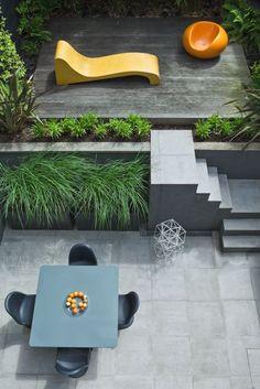 Highgate 2011 by Modular Garden Garden Design Courtyard Modern Garden Design, Contemporary Garden, Landscape Design, Terrace Garden, Garden Spaces, Small Terrace, Garden Gazebo, Backyard Patio, Small Gardens