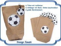 6er Set Mitgebsel Tüten Fußball,Kindergeburtstag