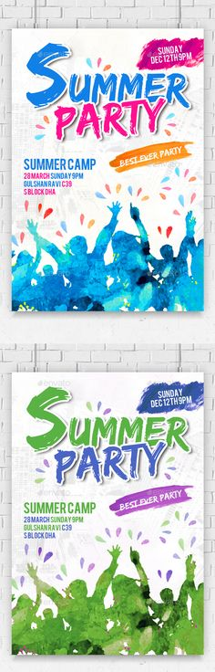 Summer Party Flyer  #season #party #spring break • Click here to download ! http://graphicriver.net/item/summer-party-flyer-/16207607?ref=pxcr
