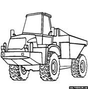Articulated Dump Truck Coloring Pages