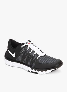 Nike Free Trainer 5.0 V6 Black Running Shoes On LooksGud.in  #Nike, #Black, #Stylish