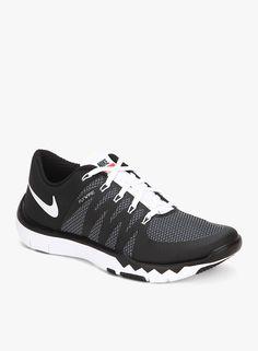 Nike Free Trainer 5.0 V6 Black Running Shoes On LooksGud.in  #Nike, #Black, #Stylish