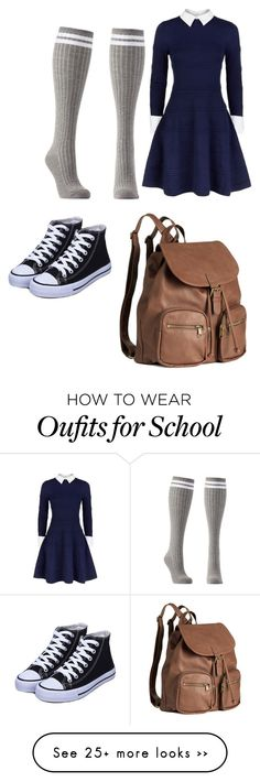 """School"" by betty22b on Polyvore featuring Alice + Olivia, Charlotte Russe and H&M"