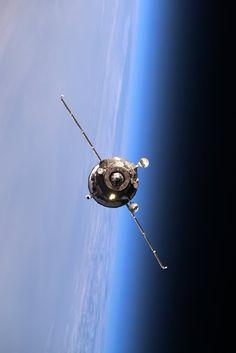 "Progress 63P Cargo Spacecraft Arrives | International Space Station Tim Kopra: ""63P coming in for approach—now successfully docked..."" Credit: NASA/JSC, U.S. Astronaut & Station Commander Tim Kopra Image Date: April 2, 2016"