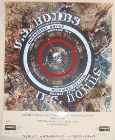 2006 U.S. Bombs - Variant Silkscreen Concert Poster by Emek