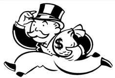 'Monopoly Man Money' Sticker by WahlaBear Monopoly Man, Monopoly Theme, Monopoly Board, Tomie Ohtake, Mark Millar, Money Tattoo, New Chapter, Tattoo Drawings, Tattoos For Guys