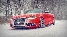 HD Red Audi S4 in Snow Winter Wallpapers - HD Desktop Wallpaper