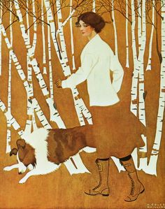 Coles Phillips (1880- 1927) was an American artist and illustrator known for his stylish images of women and a signature use of negative space. He created paintings for advertisements and the covers of popular magazines such as Life and Good Housekeeping.