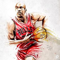 Michael Jordan x Chicago Bulls GOAT Painting