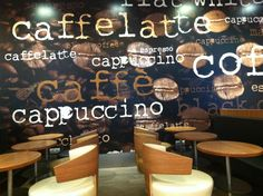 McCafe's wall Coffee Culture, Present Day, Budapest, Chalkboard Quotes, Art Quotes, Houses, Wall, Homes, House