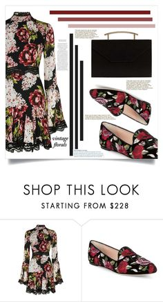 """""""Love the flowers..."""" by puljarevic ❤ liked on Polyvore featuring Nicholas, Kate Spade, MANGO, vintage, black, floralprint and vintageflorals"""