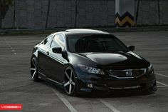 This HD wallpaper is about Vossen Wheels Honda Accord, black honda coupe, cars, Original wallpaper dimensions is file size is Honda Accord Coupe, Black Honda Accord, Honda Accord Custom, Honda Accord Ex, Honda Civic Rims, Honda Cars, Honda Auto, Subaru, Mazda
