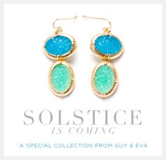 We're so excited to share our new special collection with you - so many fun pieces for you to try this summer! The Solstice Collection http://www.guyandeva.com/our-jewelry/catalog/solstice1.php