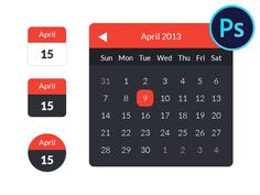 Download Calendar Ui Kit Freebies
