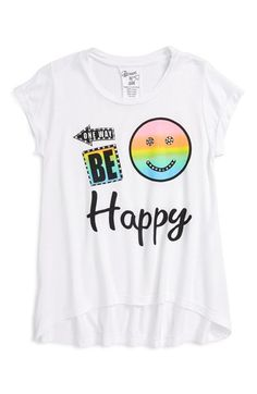 'Be Happy' Graphic Tee (Little Girls)
