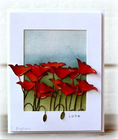 By ? Poppies #memorybox  visit me at My Personal blog: http://stampingwithbibiana.blogspot.com/