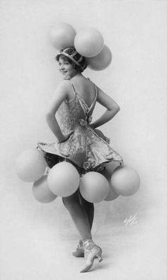♕ Vintage Costume Variations ♕  Ziegfeld pom pom girl