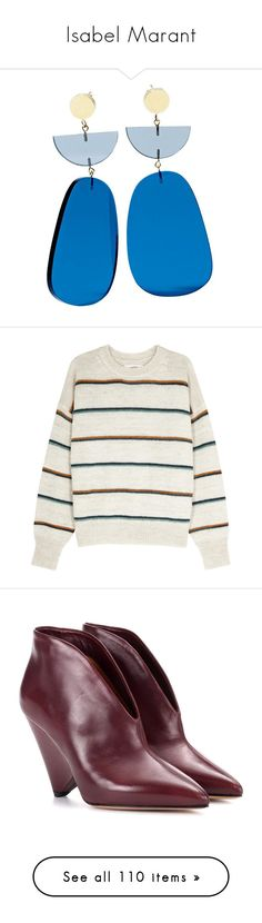 """""""Isabel Marant"""" by sparkles-and-salamanders ❤ liked on Polyvore featuring tops, sweaters, shirts, drop-shoulder tops, striped sweater, multi stripe sweater, white striped sweater, stripe top, shoes and pumps"""