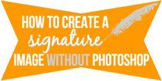 Cómo hacer una imagen de la firma en GIMP