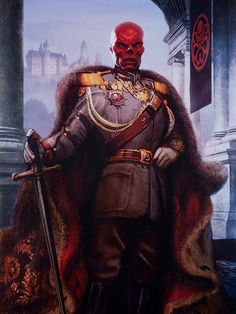 Haha, sorry Guys... I had to XD / Red Skull Painting from the Captain America Film