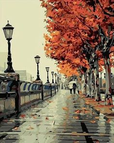 """Retail: $37.95 Today:$18.95 Do you love DIYing / Painting ? Then this """"DIY Painting By Numbers -Autumn Street"""" is a MUST have. Great way to decorate your room and to release stress. Also makes a wonderful gift! Features: Size:16""""x20"""" / 40x50cm Frameless Oil Painting On Canvas Ideal Home Decoration For Living Room Include: 100% high quality cotton canvas; Nylon brushes; High quality acrylic paints You can get this at a great deal, but only for a limited ti..."""