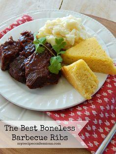 The Best Boneless Barbecue Ribs