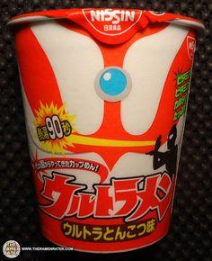 #1220: Nissin Ultraman Instant Noodle Pork Flavor | The Ramen Rater