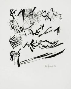 Leon Ferrari - Asemic writing