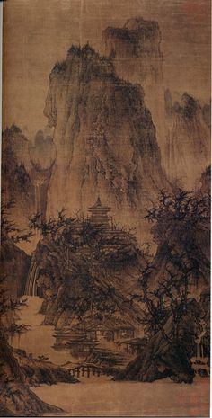 A Solitary Temple Amid Clearing Peaks, Northern Song Dynasty (960-1127)  Attributed to: Li Cheng , Chinese , 919-967 C.E.