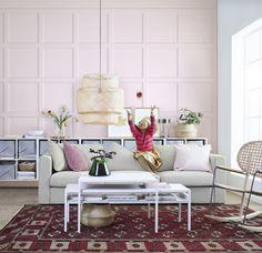VIMLE 3-zitsbank   IKEA IKEAnl IKEAnederland inspiratie wooninspiratie interieur bank sofa zitbank woonkamer kamer tapijt vloerkleed kleed salontafel tafel bijzettafel roze SINNERLIG hanglamp GRÖNADAL schommelstoel scandinavisch trendy modern kwaliteit hip