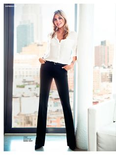 The perfect black pants! Wear'em with pencil heels and  you can do anything. Anything.